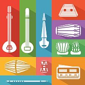 flat Indian instruments