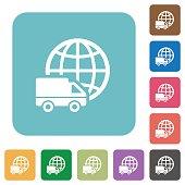 Flat international transport icons