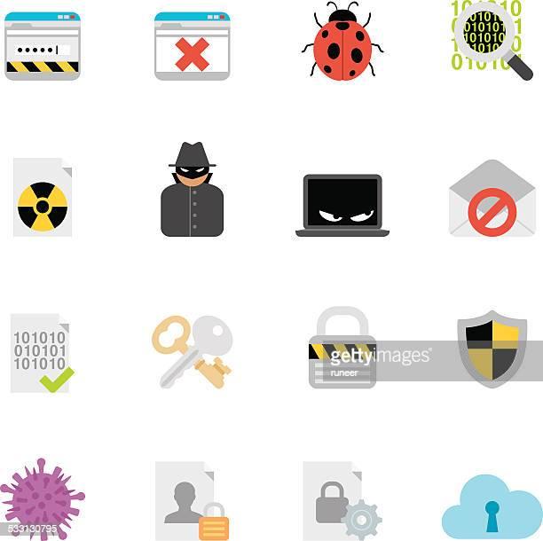 illustrations, cliparts, dessins animés et icônes de des icônes de sécurité internet/simpletoon series - coccinelle