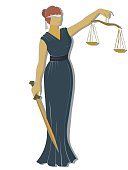 flat lady justic .Themis  Equality  fair trial and Law .