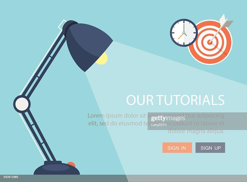 Flat lamp illustration.