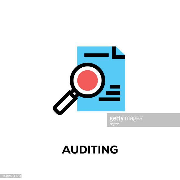 Flat line design style modern vector Auditing icon