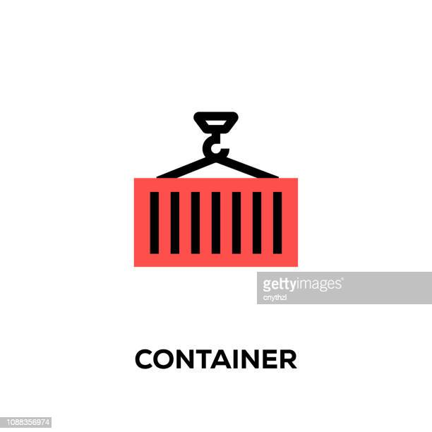 Flat line design style modern vector Container icon