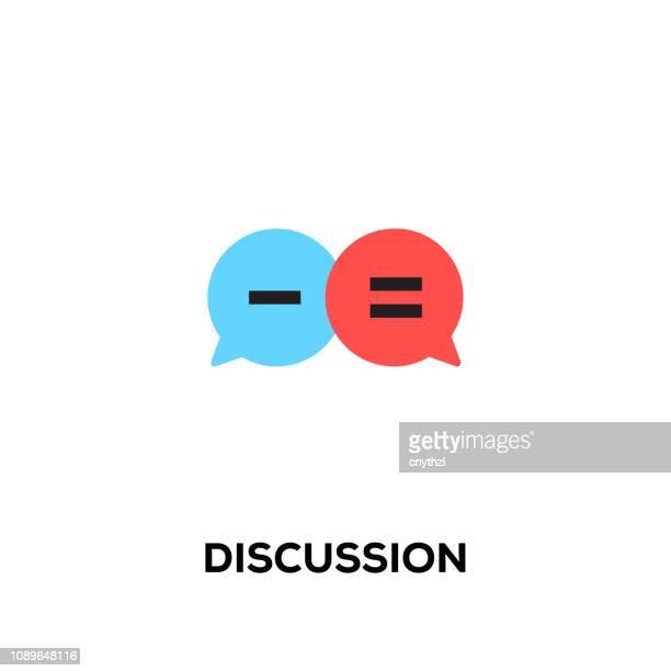 flache linie designikone stil moderne vektor diskussion - sprechblase für internetchat stock-grafiken, -clipart, -cartoons und -symbole
