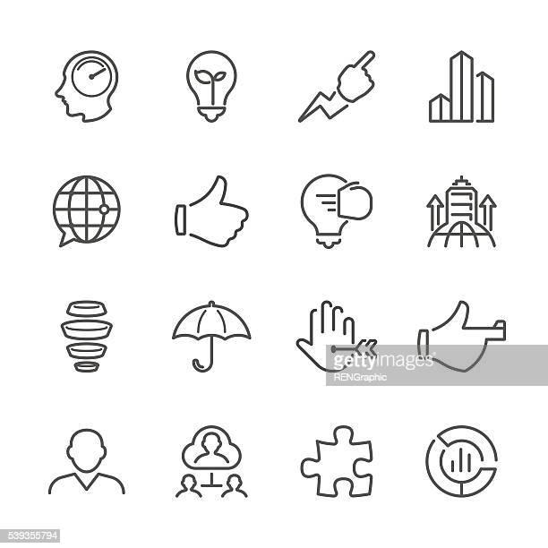 Linha plana ícones de negócios-série