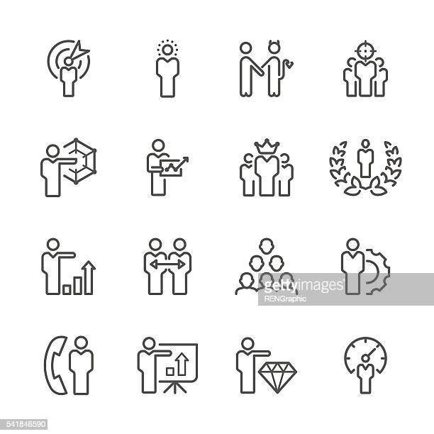 Flat Line icons - Businessman  Series