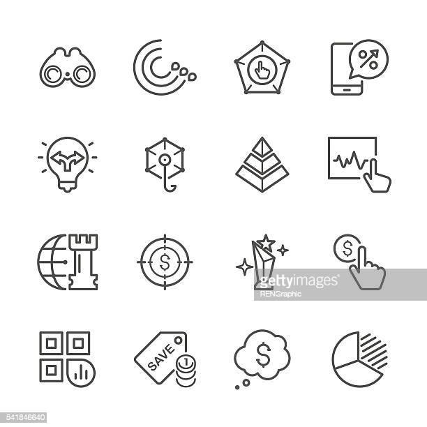 ilustraciones, imágenes clip art, dibujos animados e iconos de stock de línea plana icons-serie comercialización - social grace