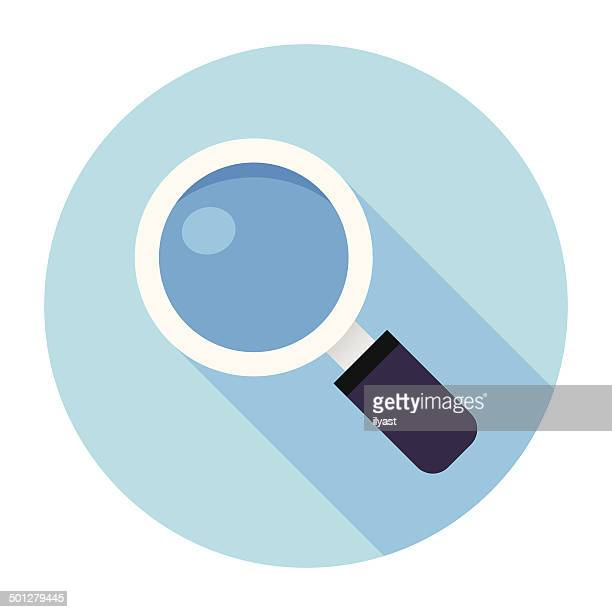 Flat Magnifier Icon