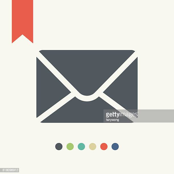 flat mail icon - e mail stock illustrations
