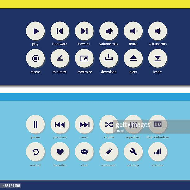 Flat media player elements
