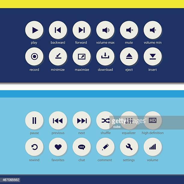 Flat media player elements