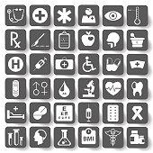 Flat Medical Icons set.vector illustration.