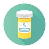Flat Medicine Bottle Icon