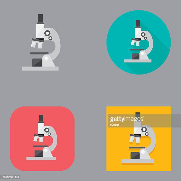 Flat Microscope icons | Kalaful series