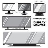 2D flat monitors