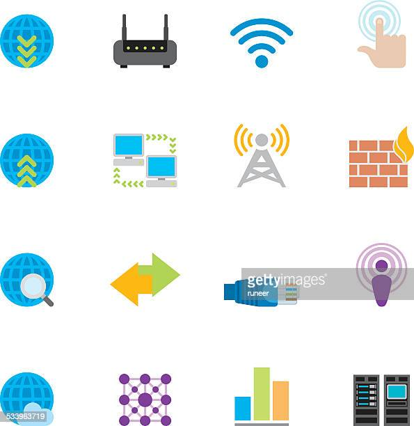 Flat Networking icons | Simpletoon series