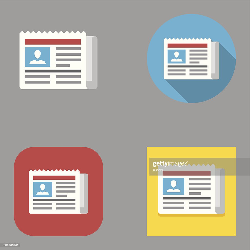 Flat Newspaper icons | Kalaful series
