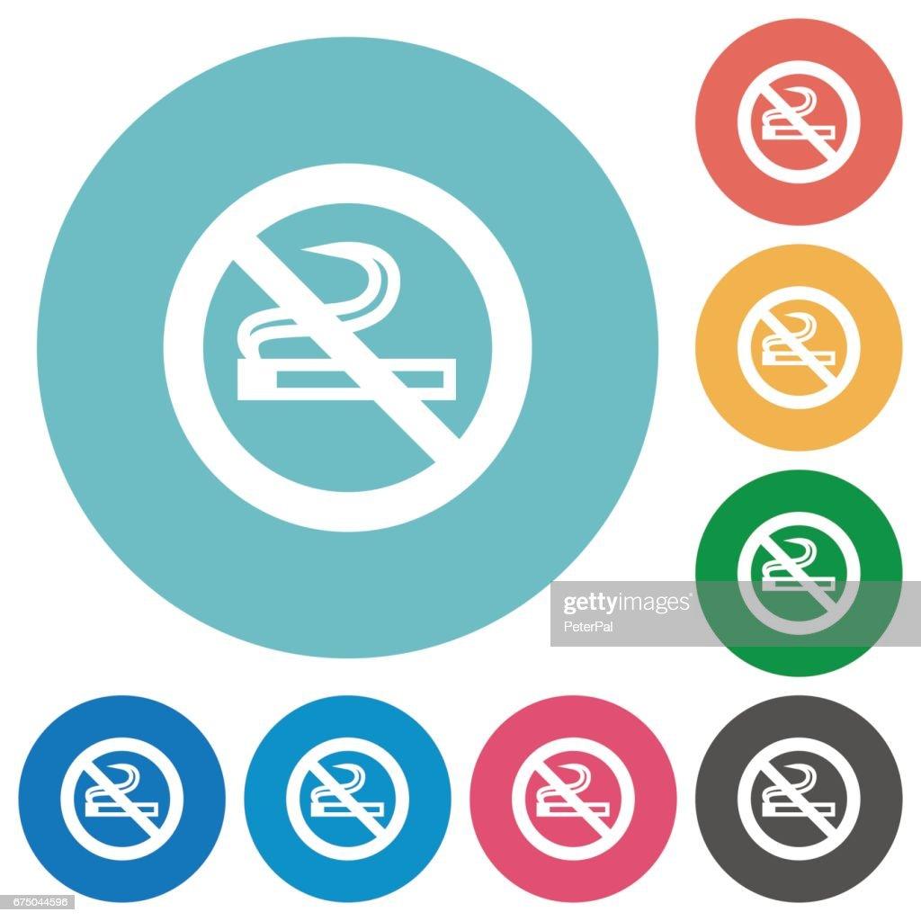 Flat no smoking icons