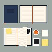Flat notebook set