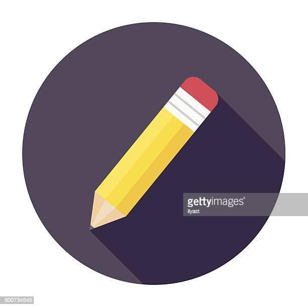 Flat Pencil Icon