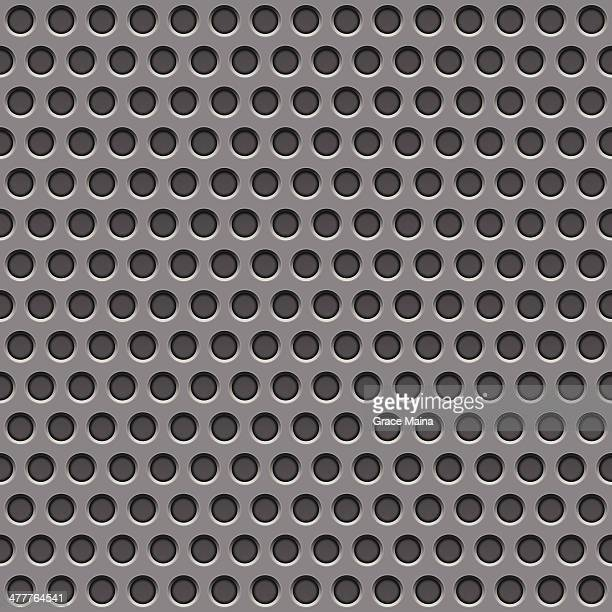 flat perforated metal texture - vector - sheet metal stock illustrations, clip art, cartoons, & icons