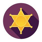 Flat Police Badge Icon