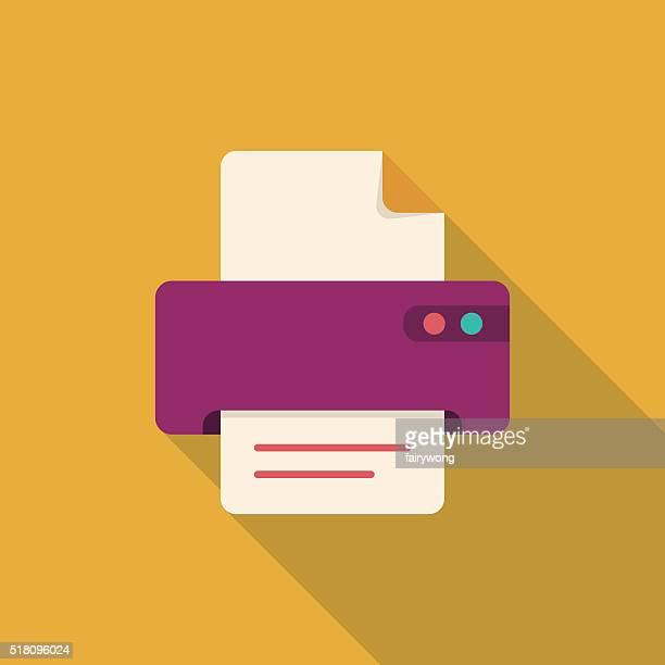 flat printer icon