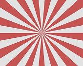 Flat Red White Sunburst rays sunbeam background vector