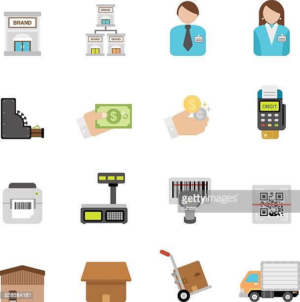 illustrations, cliparts, dessins animés et icônes de détail plat icônes/simpletoon series - code barre