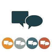 Flat Round Wedsite Icon - Speech Bubble