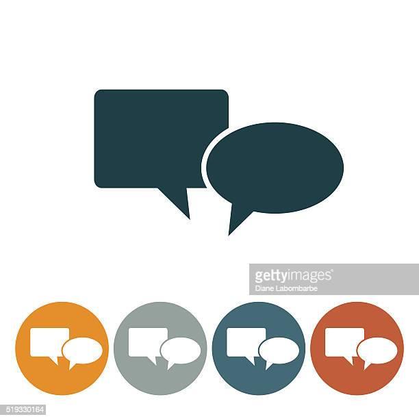 flache runde wedsite icon-sprechblase - sprechblase für internetchat stock-grafiken, -clipart, -cartoons und -symbole