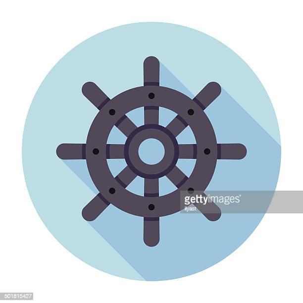 Flat Rudder Icon