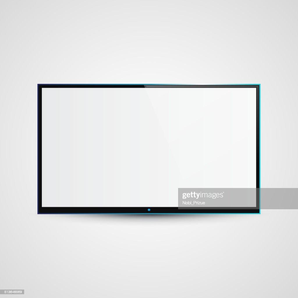 TV Flat Screen Icd Illustration