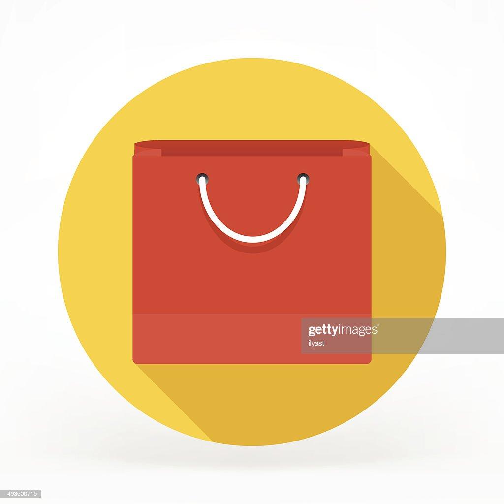 Flat Shopping Bag Icon