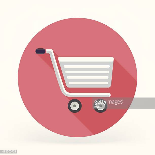 Flat Shopping Cart Icon