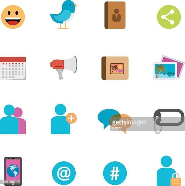 Flat Social Media icons | Simpletoon series