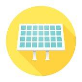 Flat Solar Panel Icon