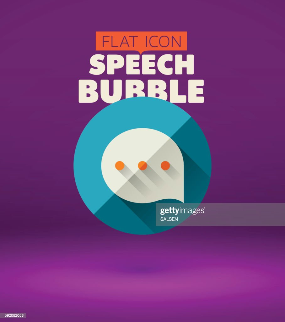 Flat Speech Bubble Icon