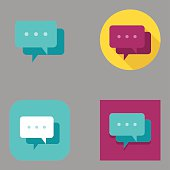 Flat Speech Bubble icons | Kalaful series
