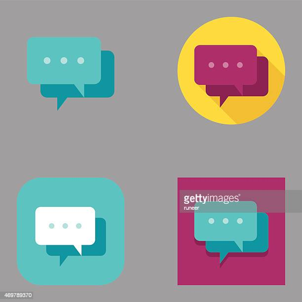 Flat Speech Bubble icons | Kalaful series