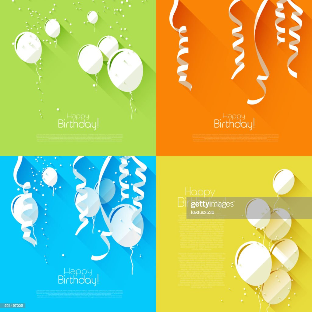 Flat style birthday backgrounds
