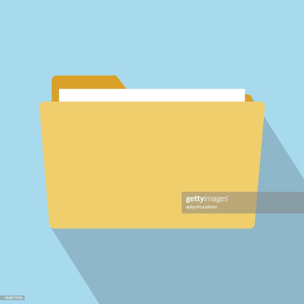 Flat Style Folder Icon