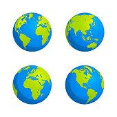 Flat style globe design stock illustration