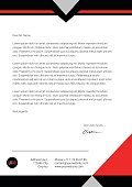 Flat style red and black letterhead design