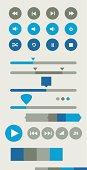 Flat style UI elements