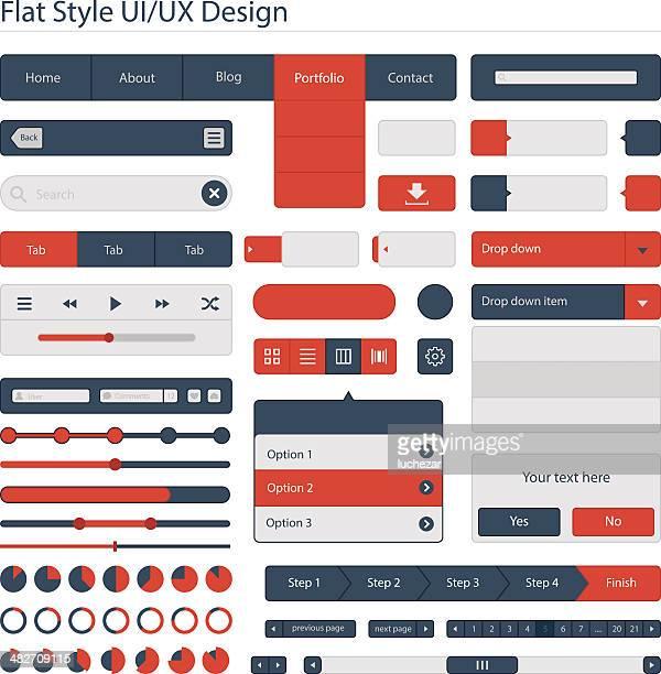 フラットスタイルの ui ux デザイン/ - gui点のイラスト素材/クリップアート素材/マンガ素材/アイコン素材