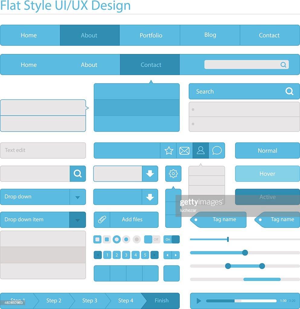 フラットスタイルの UI UX デザイン/ : ストックイラストレーション