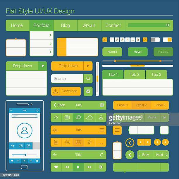 Flache UI und UX-design