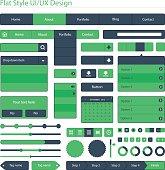 Flat style UI/UX design
