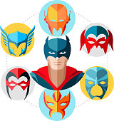 Flat Superhero Concept
